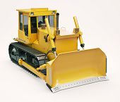 pic of earthwork operations  - Heavy crawler bulldozer on a light background - JPG