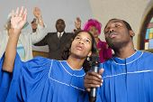 picture of singing  - People singing in church - JPG