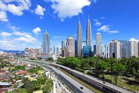 pic of petronas towers  - Kuala Lumpur skyline - JPG