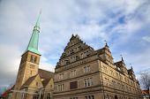 Church of St. Nikolas and Hochzeitshaus (Wedding House). Hameln, Germany