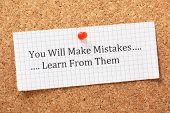 stock photo of empower  - The phrase You Will Make Mistakes - JPG