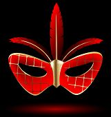 red-golden carnival mask