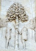 picture of adam eve  - Certosa di Pavia  - JPG