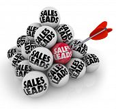 stock photo of pyramid  - Sales Leads Ball Pyramid New Customers Business Opportunity - JPG