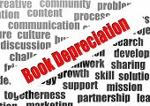 stock photo of depreciation  - Book depreciation word cloud image with hi - JPG