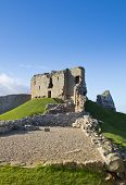 stock photo of bailey  - Considered one of the finest examples of a motte and bailey castle in scotland - JPG