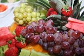 image of buffet catering  - different fruits on a buffet table - JPG