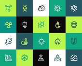 stock photo of bio-hazard  - Science icons - JPG