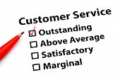 picture of performance evaluation  - Customer service performance form - JPG