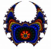 picture of armorial-bearings  - Abstract painting in a shape of horned head on white - JPG