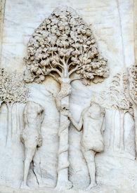 image of adam eve  - Certosa di Pavia  - JPG