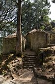 picture of rebuilt  - Castro de Sao Lourenco a prehistoric fortified village partially rebuilt at Vila Cha - JPG
