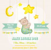picture of baby bear  - Baby Boy Arrival Card  - JPG