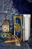 stock photo of quran  - The Quran is the bible for Muslims - JPG