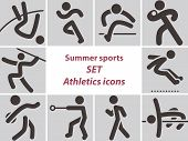 pic of pole-vault  - Summer sports icons  - JPG