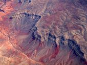 stock photo of paleozoic  - Aerial view of Grand Canyon National Park in Arizona - JPG
