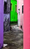Multi-colored Street In Europe poster
