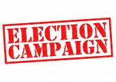 image of election campaign  - ELECTION CAMPAIGN red Rubber Stamp over a white background - JPG