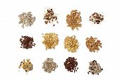 stock photo of flaxseeds  - Collection of Cereal Grains and Seeds  - JPG