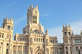 picture of city hall  - Cibeles Palace in Madrid Spain - JPG