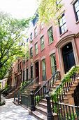 pic of west village  - West Village in New York Manhattan building facades USA NYC - JPG