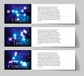 picture of virgo  - Set or collection horoscope or zodiac or constellation cancer leo virgo - JPG