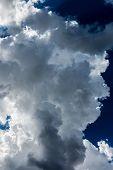 foto of cumulus-clouds  - Large Stormy Dark Cumulus Cloud - JPG