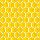 foto of honeycomb  - Beautiful honeycomb seamless background - JPG