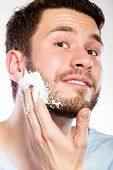 pic of shaving  - Health beauty and skin care concept - JPG