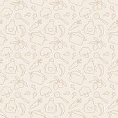 foto of pale  - Food and kitchen seamless pattern - JPG