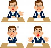pic of counseling  - Businessman poses collection of such meetings and counseling - JPG