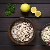 picture of cilantro  - Chilean Ceviche made of Southern Ray - JPG