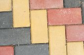 foto of paving  - colored paving the view from the top - JPG