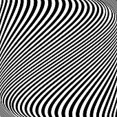 stock photo of distort  - Design monochrome lines movement illusion background - JPG