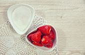 picture of sugar  - Strawberry with sugar - JPG