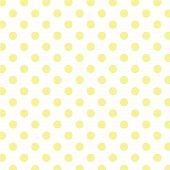Big Yellow Polka Dots On White