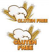 picture of wheat-free  - gluten free symbol set isolated on white background - JPG