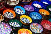 picture of constantinople  - Traditional Turkish ceramics on the Grand Bazaar - JPG
