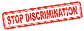 picture of racial discrimination  - stop discrimination equal rights no homophobia or gender racism - JPG