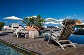pic of jetties  - Luxury poolside jetty at Seychelles - JPG