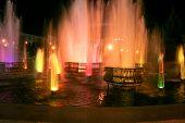stock photo of novosibirsk  - light and music fountain near theater Globus Novosibirsk - JPG