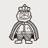 stock photo of scepter  - King Doodle - JPG