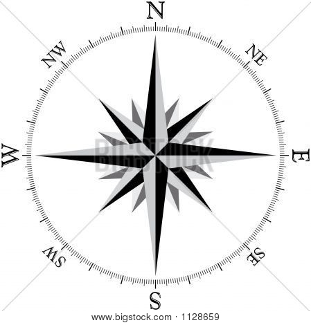 how to draw a 2 point spiral with a compass
