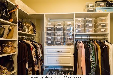 Custom Closet Wtih Bags And Bins