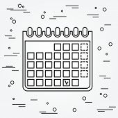 Calendar Icon. Calendar Icon Vector.calendar Icon Drawing. Calendar Icon Image. Calendar Icon Graphi poster