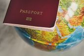 Passport With World Map, Journey Concept poster