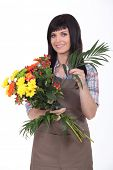 Studio shot of a florist