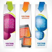 Speech bubble vertical banner set
