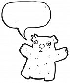 stock photo of wombat  - wombat with speech bubble - JPG
