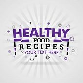 Purple Logo For Healthy Food Recipes. For Food Cover App, Booking Restaurant, Food Websites, Recipe  poster